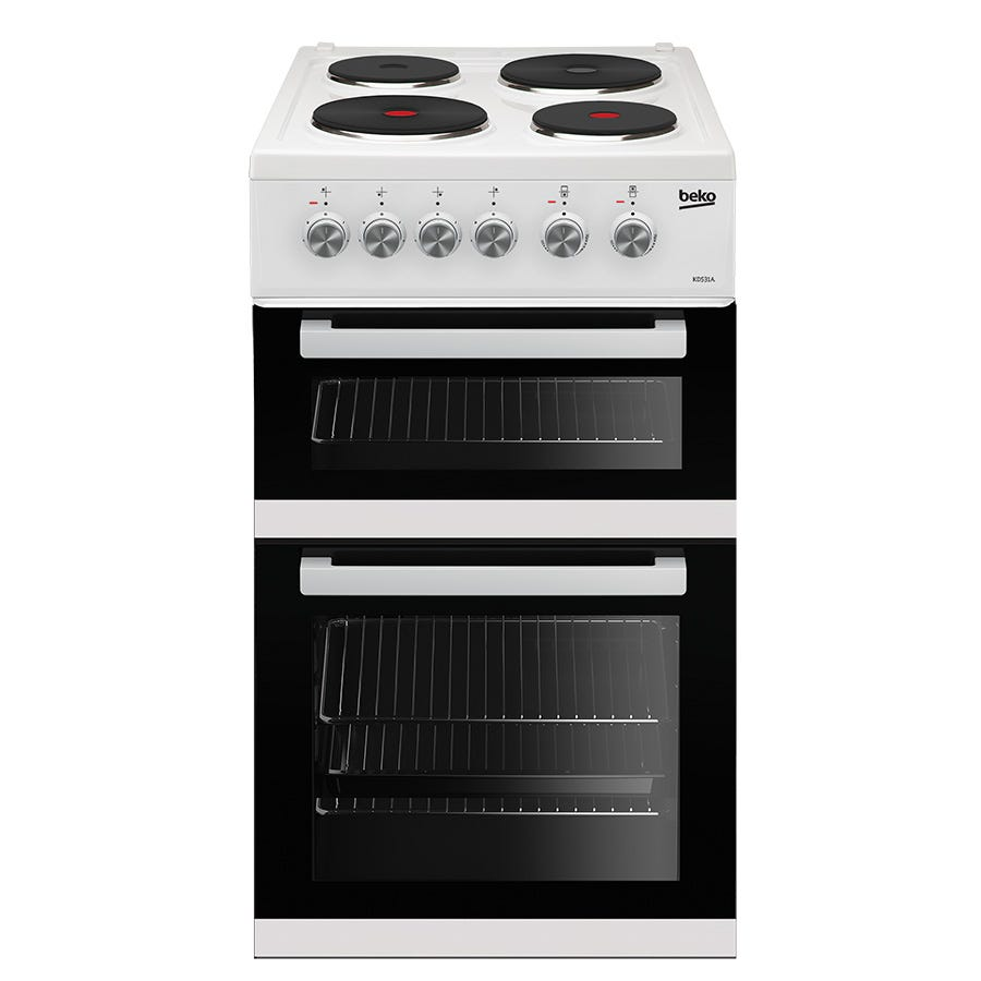Compare cheap offers & prices of Beko KD531AW Double Oven Electric Cooker - White manufactured by Beko