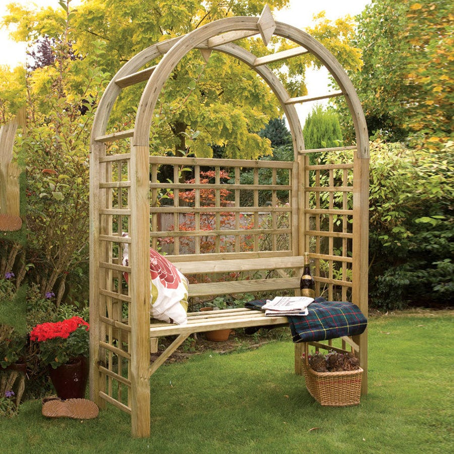 Compare prices for Grange Fencing Montebello Wooden Garden Arbour - Natural