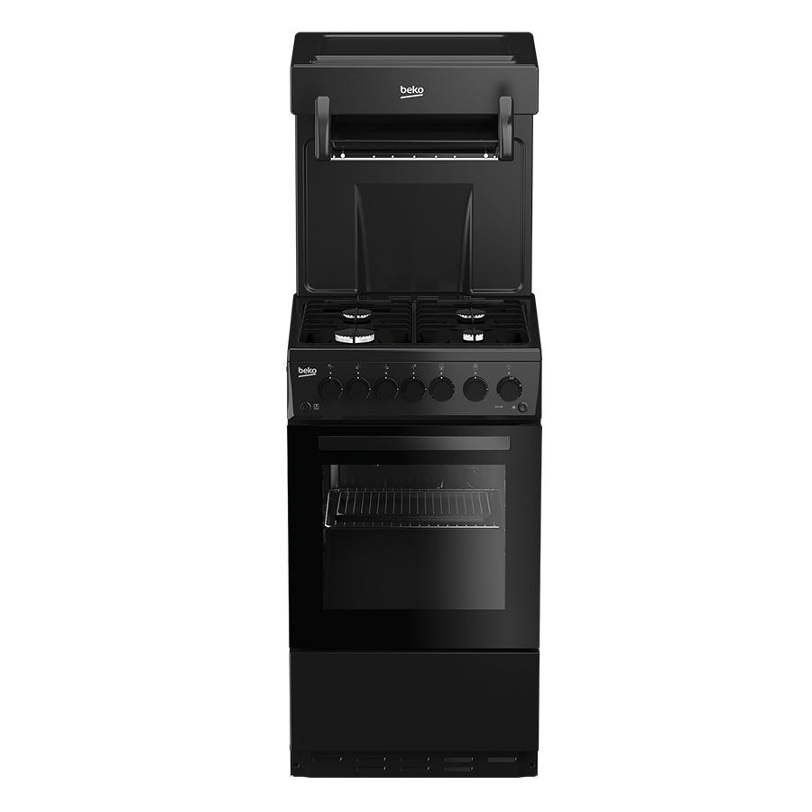 Compare retail prices of Beko KA52NEK Single Oven Gas Cooker - Black to get the best deal online