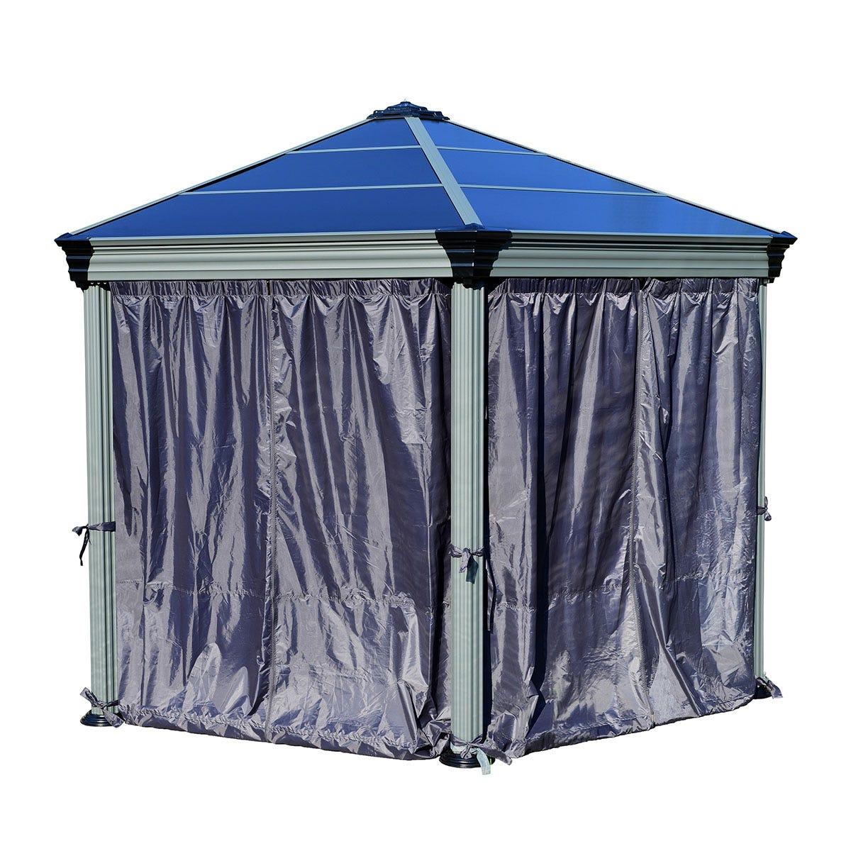 Palram - Canopia Hexagonal Gazebo Curtain Set - Black
