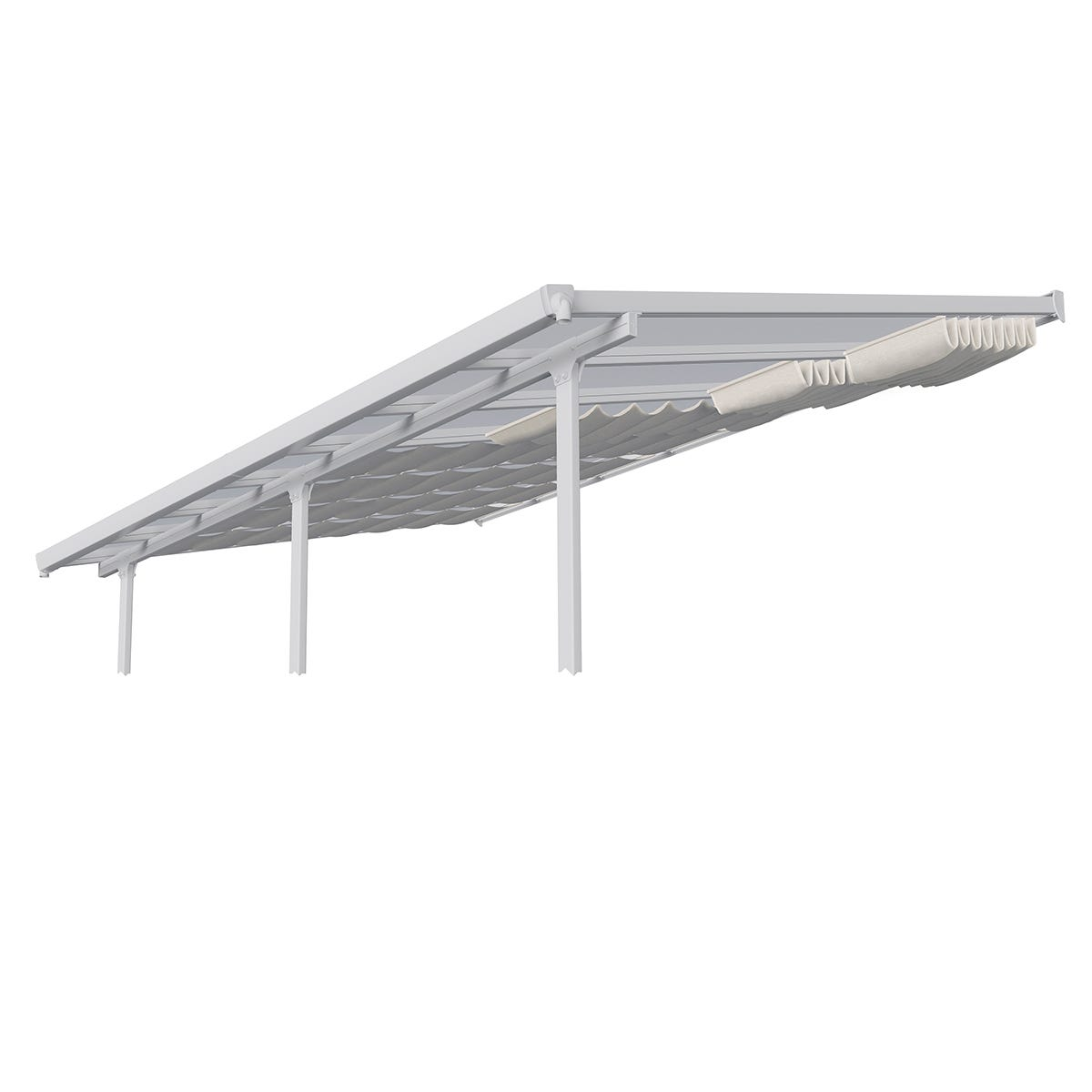 Palram - Canopia Patio Cover Roof Blinds Extension 3m x 1.8m - White