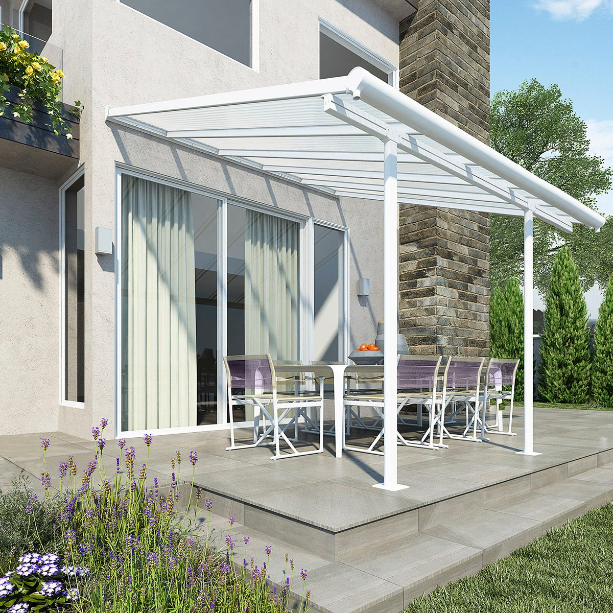 Palram - Canopia Sierra Patio Cover 3m x 3.05m - White Clear