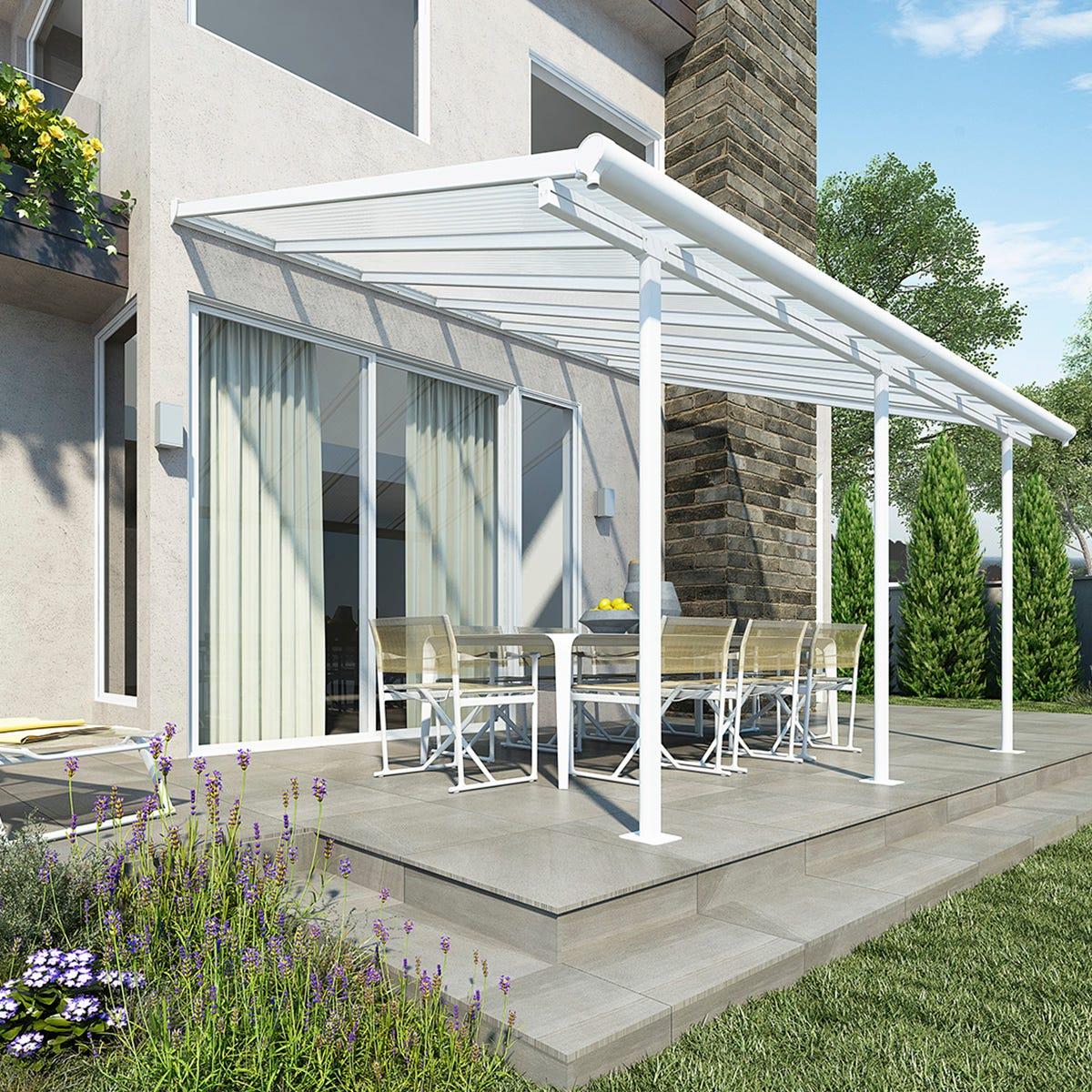Palram - Canopia Sierra Patio Cover 3m x 4.25m - White Clear