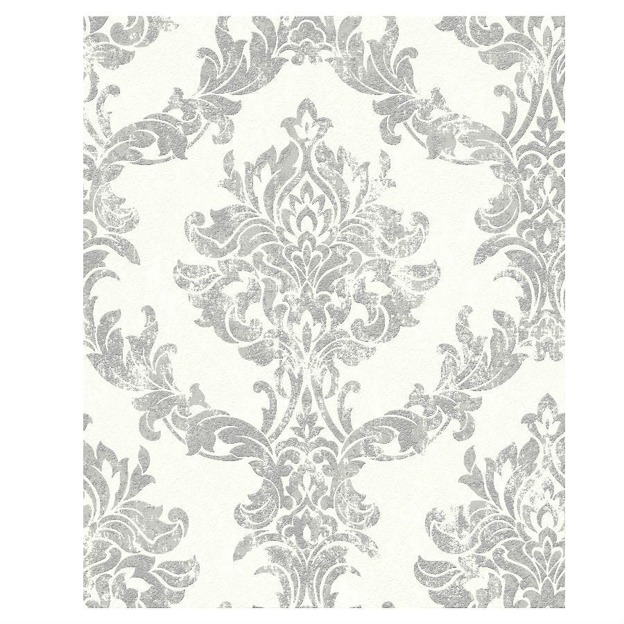 Compare prices for Boutique Opal Damask Wallpaper - Silver