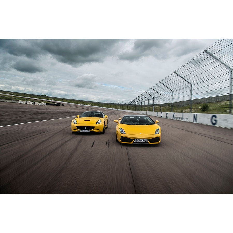 Buyagift Double Supercar Driving Blast with Free High Speed Passenger Experience - Special Offer