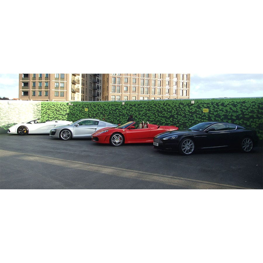 Buyagift Four Supercar Thrill with Free High Speed Passenger Ride Experience- Special Offer