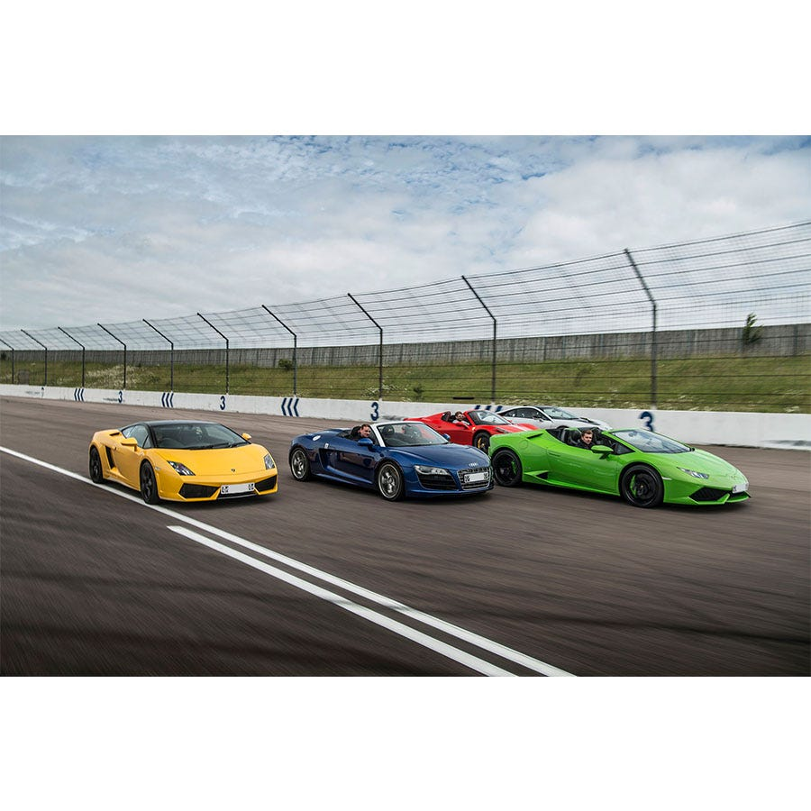 Buyagift Double Supercar Thrill with Free High Speed Passenger Ride Experience - Special Offer