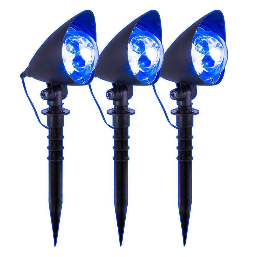 Christmas Workshop Global Gizmos Outdoor Set of 3 LED Path Lights - Blue