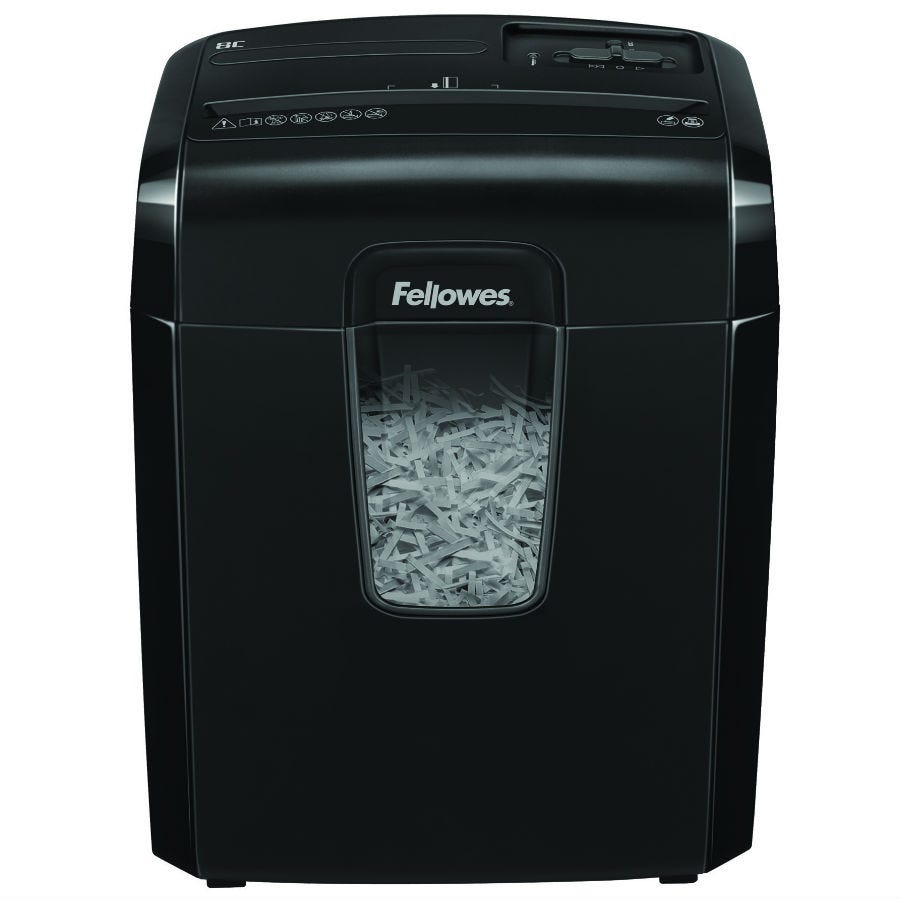 Fellowes Powershred 8C Cross Cut Shredder - Black
