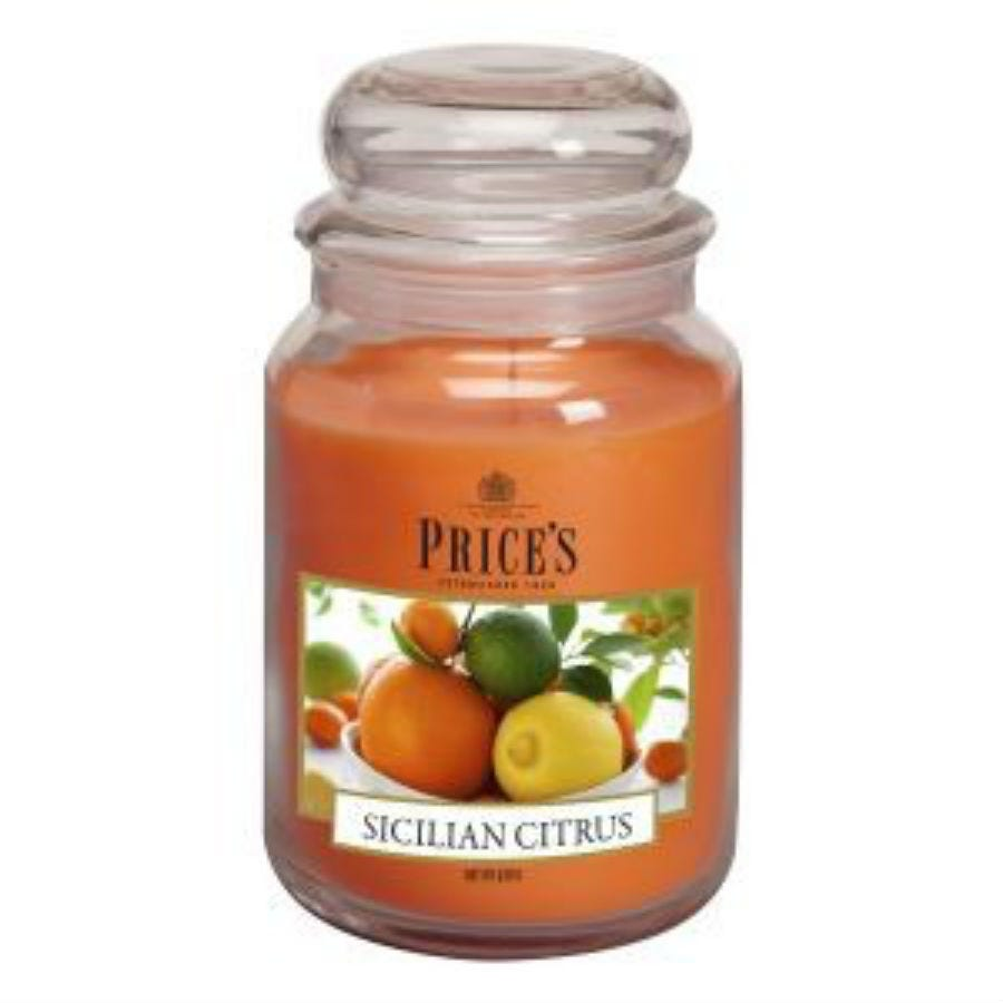 Image of Price's Large Scented Candle – Sicilian Citrus
