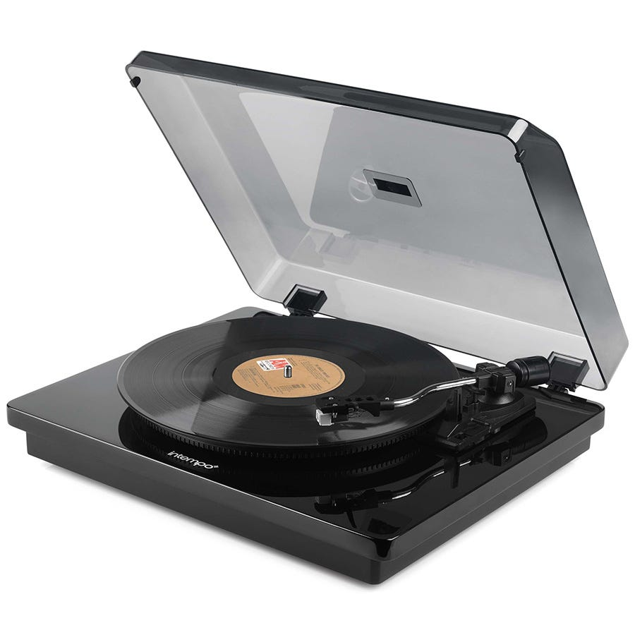 Compare prices for Intenso Intempo EE1515BLKSTK Essential Record Player