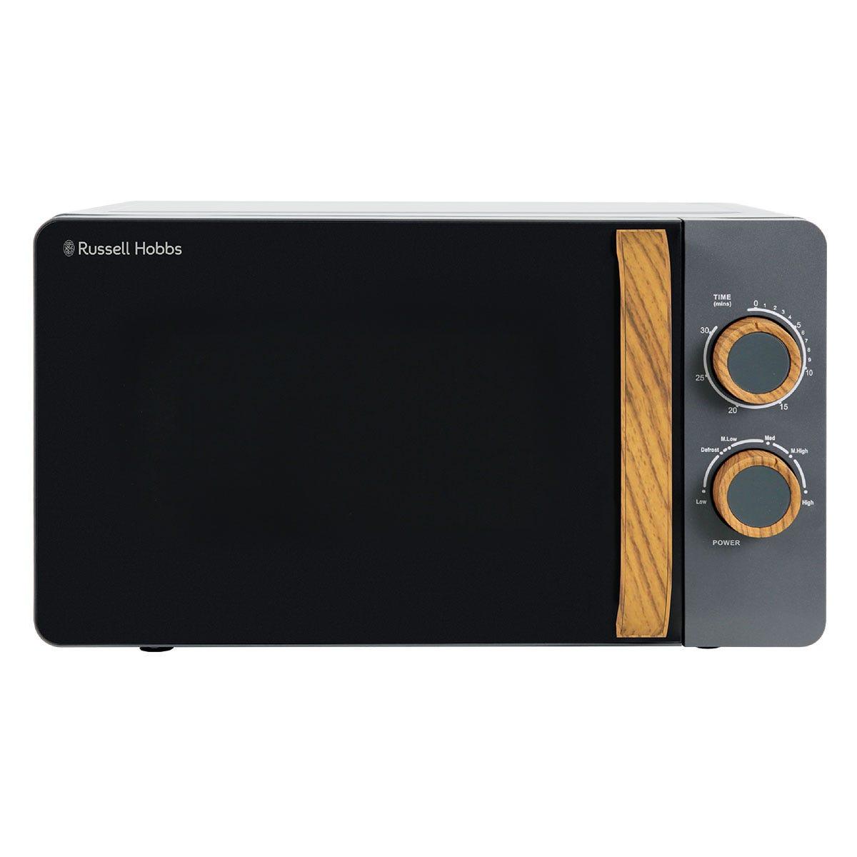Russell Hobbs RHMM713G Scandi Compact 700W 17L Manual Microwave - Grey