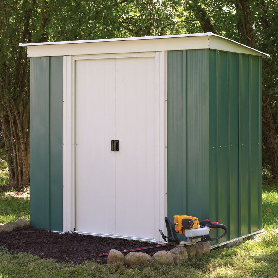 Rowlinson 6ft x 4ft Metal Pent Garden Shed