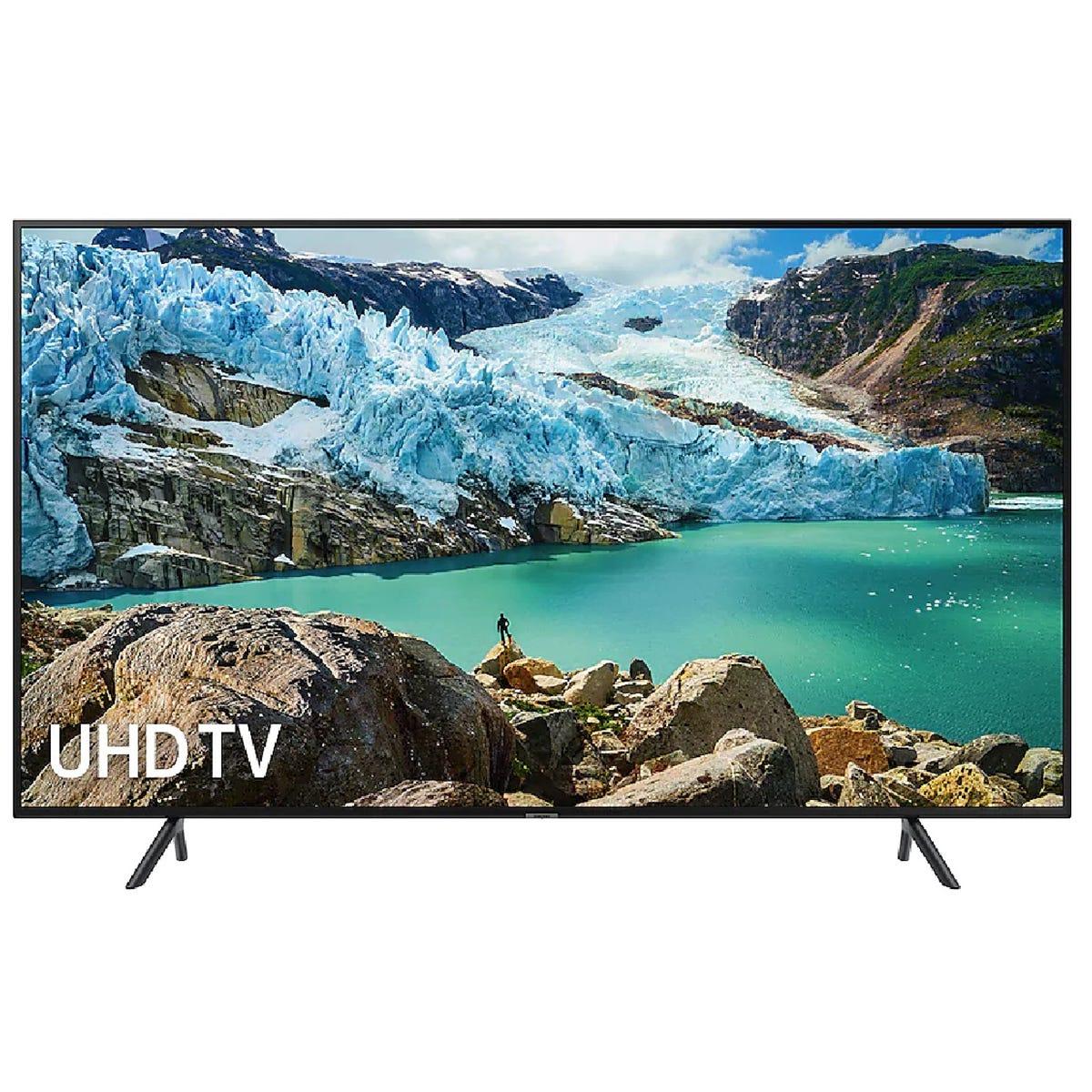 Samsung UE55RU7100 (2019) HDR 4K Ultra HD Smart TV, 55 with TVPlus & Apple TV App, Charcoal Black