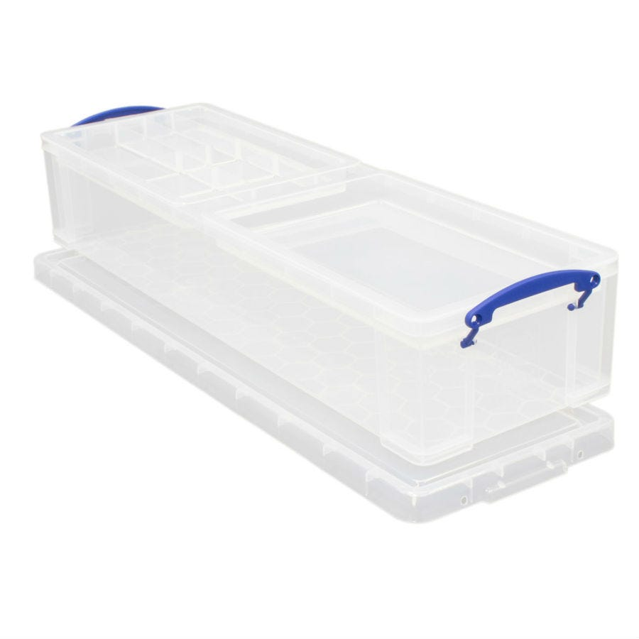 Image of Really Useful 22L Stackable Storage Box - Clear