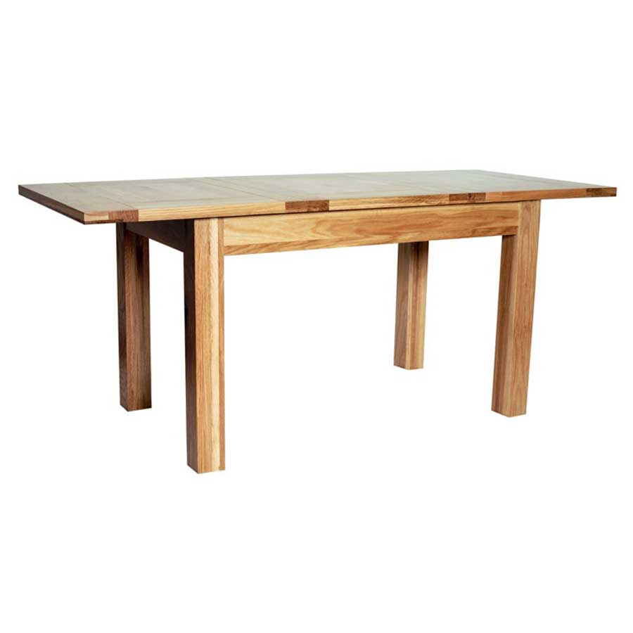 Ametis Hereford Rustic Oak Extending Dining Table - 125cm to 180cm