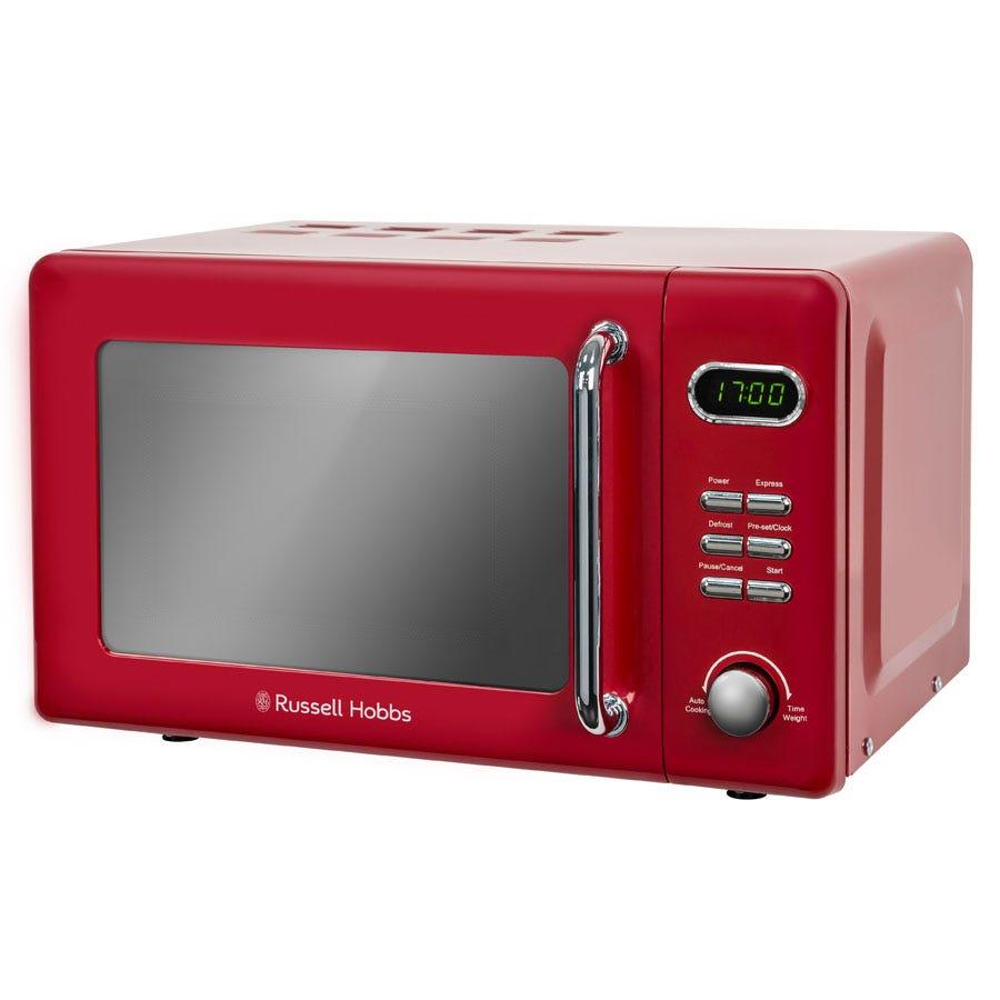 Russell Hobbs RHRETMD706R 700W 17L Retro Digital Microwave - Red