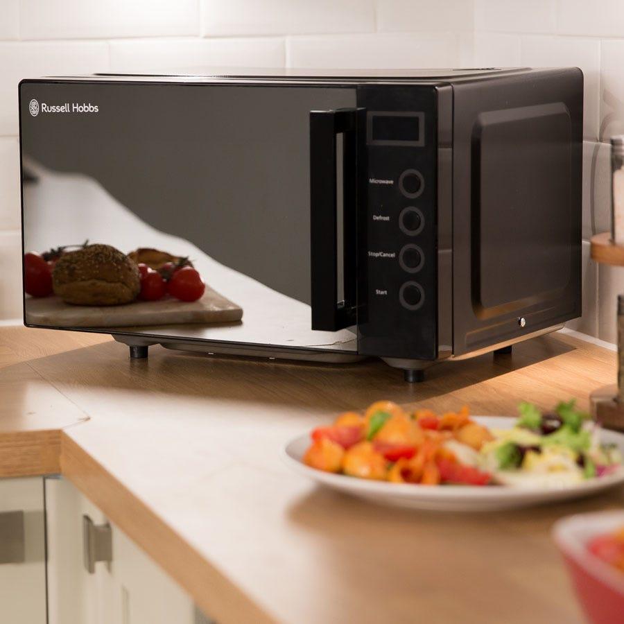 Russell Hobbs RHEM1901B 19L Easi Digital Flatbed Microwave - Black