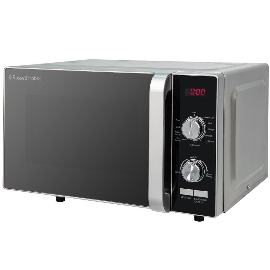 Russell Hobbs RHFM2001S 700W 19L Flatbed Digital Microwave - Silver