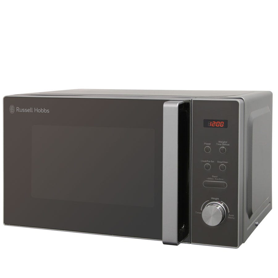 Russell Hobbs RHM2076S 800W 20L Digital Microwave - Silver and Black