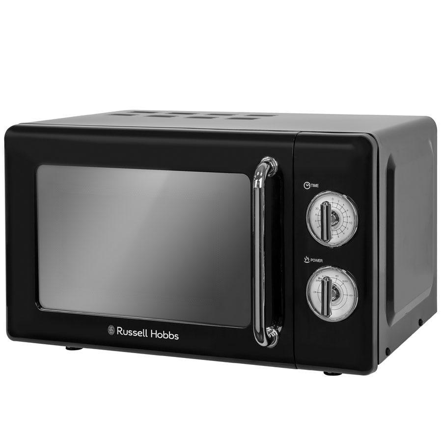 Russell Hobbs RHRETMM705B 700W 17L Manual Retro Microwave - Black