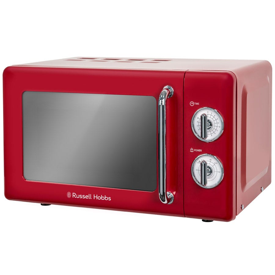 Russell Hobbs RHRETMM705R 17L Retro 700W Manual Microwave - Red