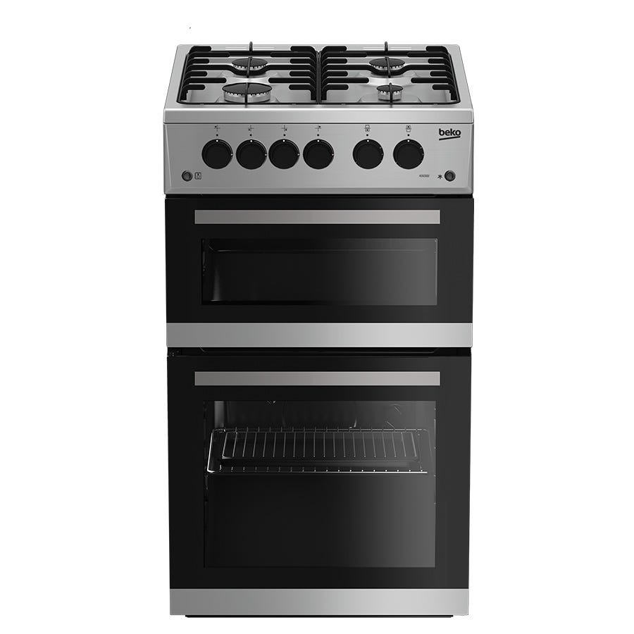 Compare cheap offers & prices of Beko KDG582S Double Oven Gas Cooker - Silver manufactured by Beko