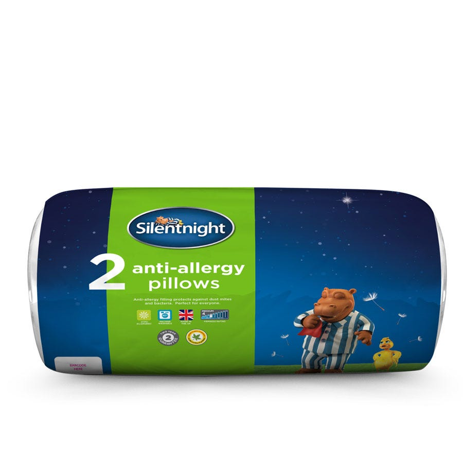 Image of Silentnight Anti-Allergy Pillow – Pair