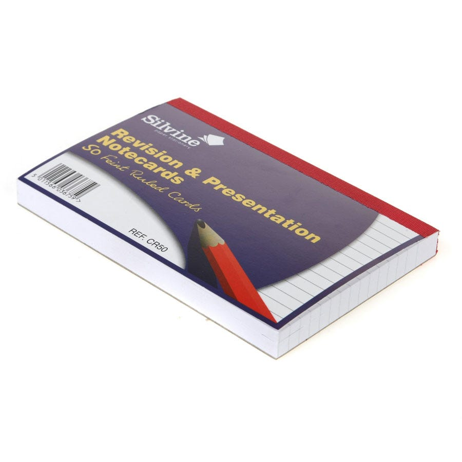 Compare cheap offers & prices of Robert Dyas Silvine 6 Inch x 4 Inch Revision Cards - Pack of 50 manufactured by Robert Dyas