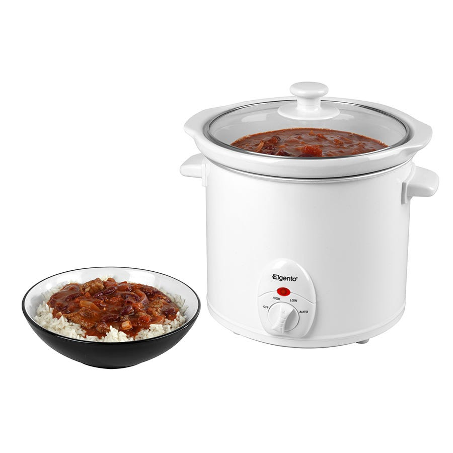 Elgento 3-Litre Slow Cooker - White