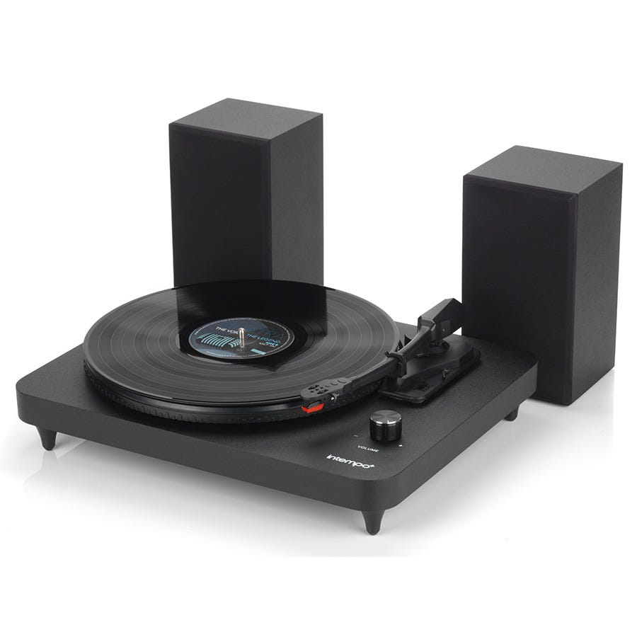 Compare prices for Intempo EE1837STK Record Player with 6-Watt Stereo Speakers