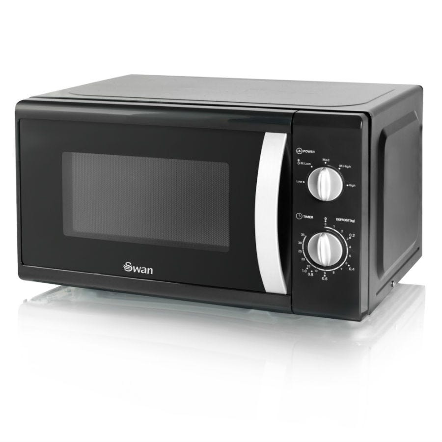 Swan SM40010BLKN 20L 800W Solo Digital Microwave - Black