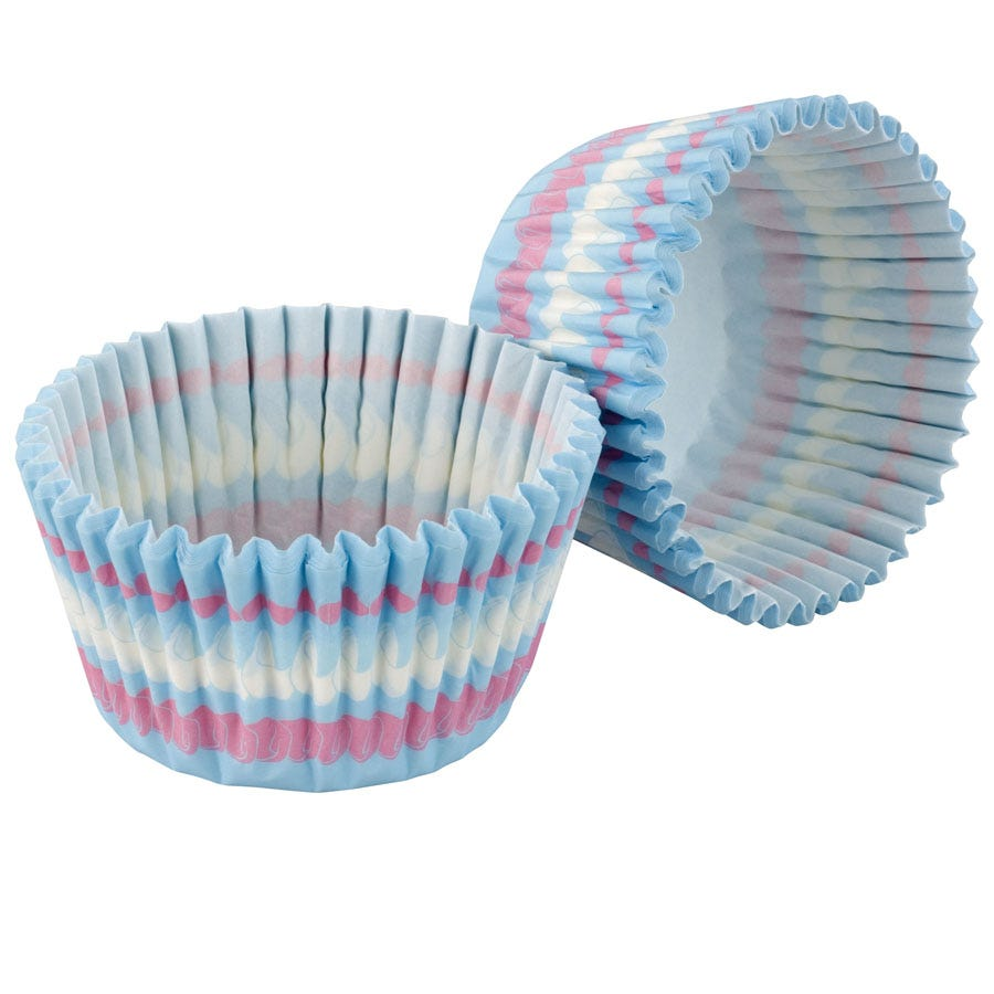Medium Square Muffin Cupcake Cases With Lid Pack Of 12