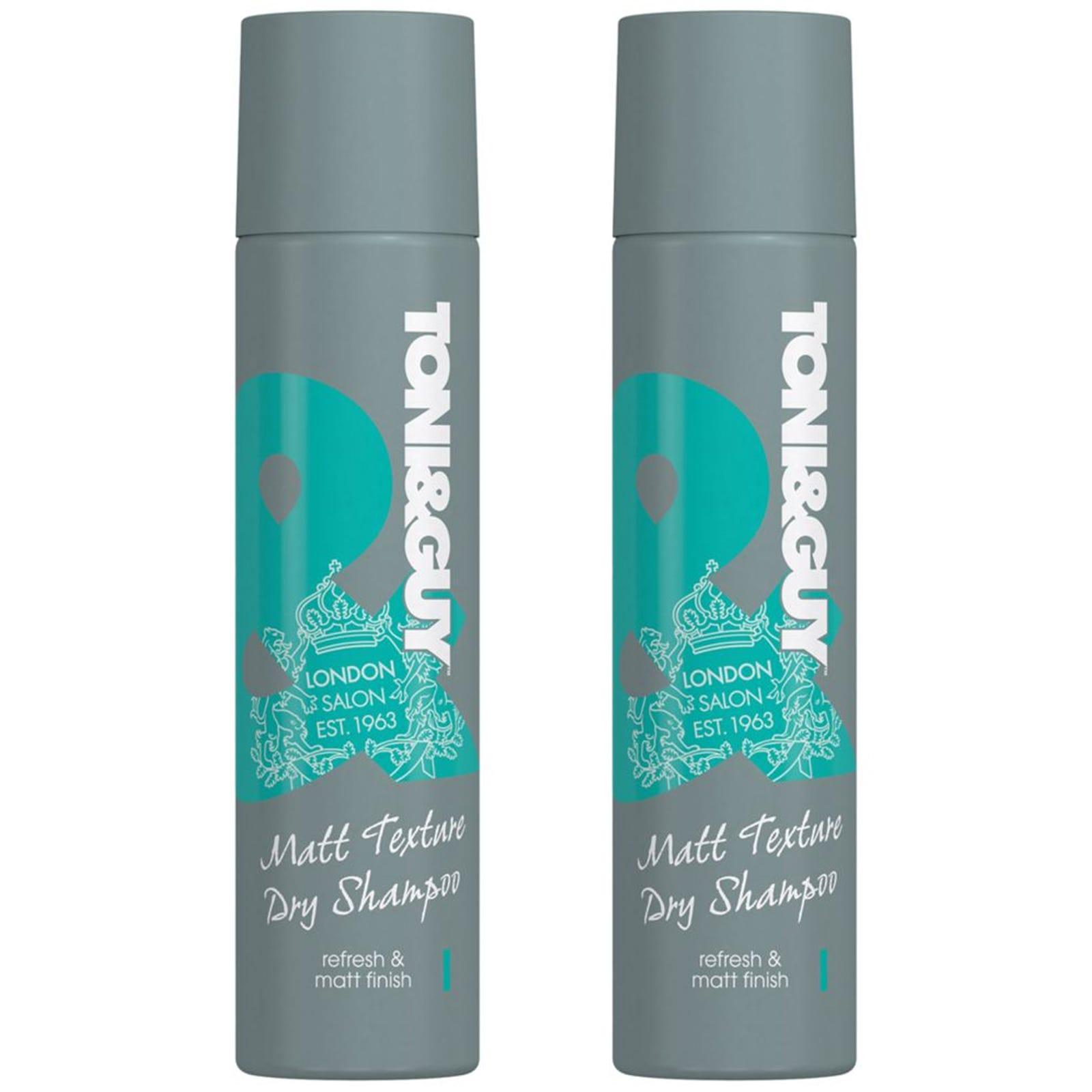 2x Toni & Guy Matte Texture Dry Shampoo