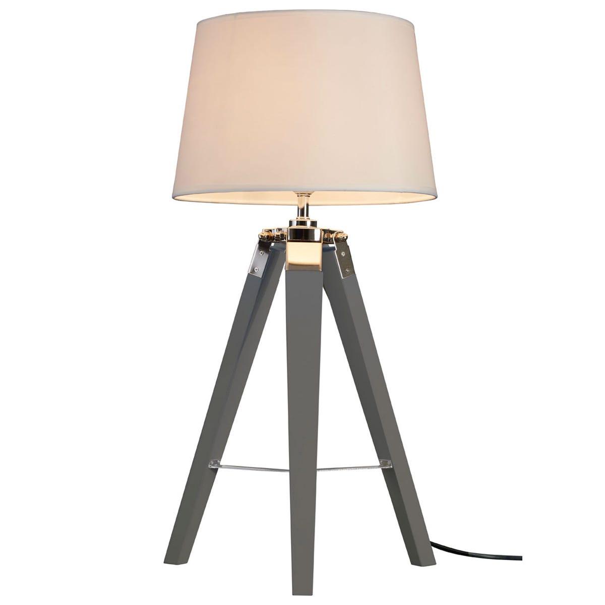 Premier Housewares Bailey Table Lamp Grey / Tripod