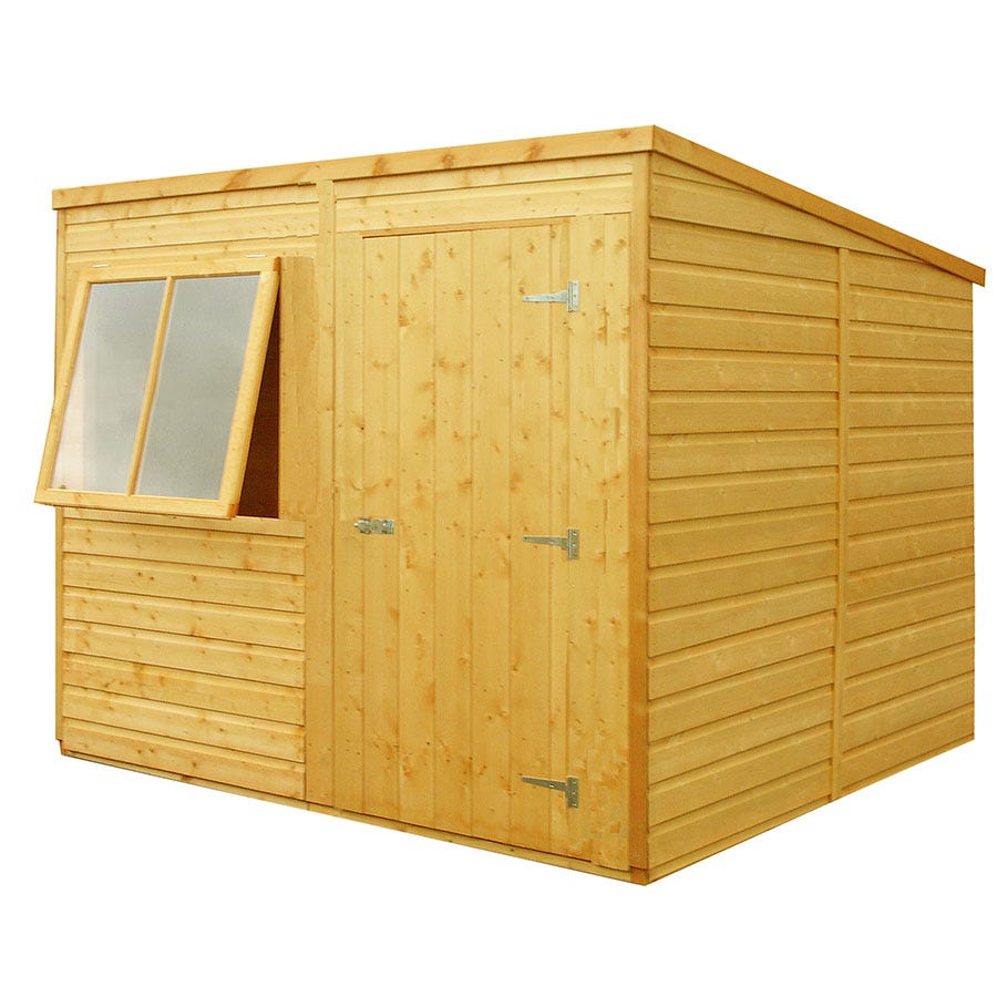 Rowlinson greenvale metal pent garden shed 6 x 4 octer for Garden shed 4 u