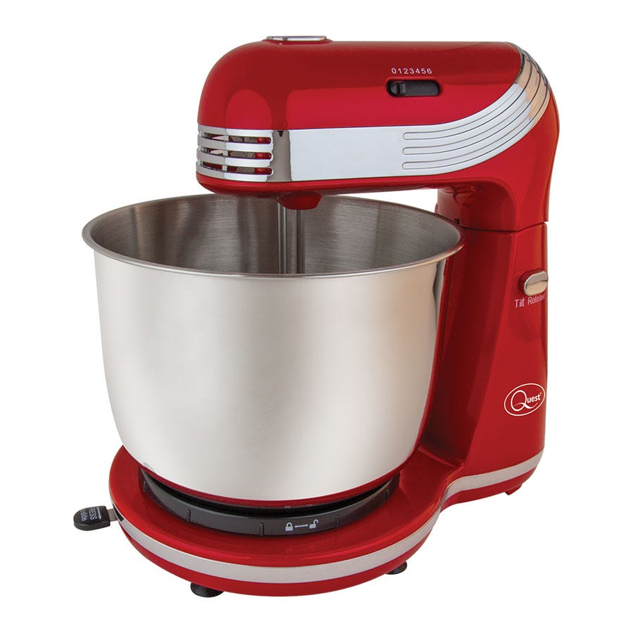 Quest 3L Stand Mixer - Red