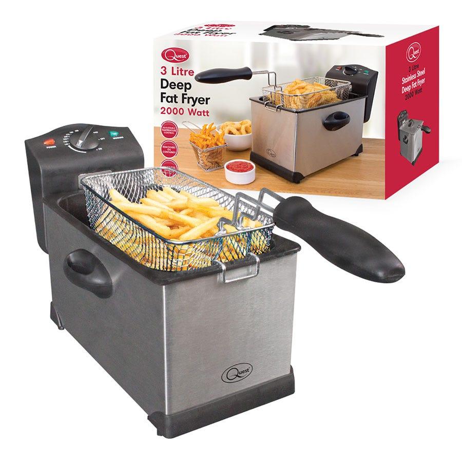 Quest 35140 3L Deep Fat Fryer - Stainless Steel