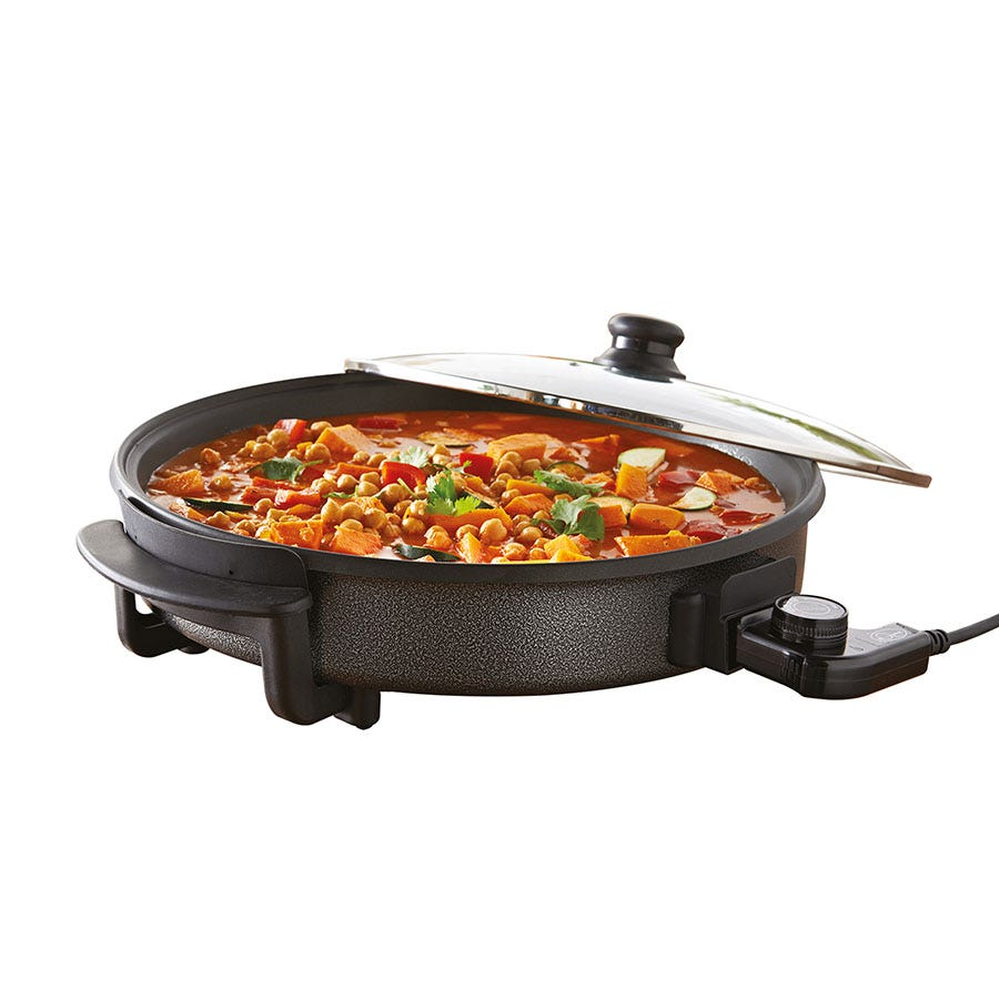Quest Black 30cm Multifunction Electric Cooker