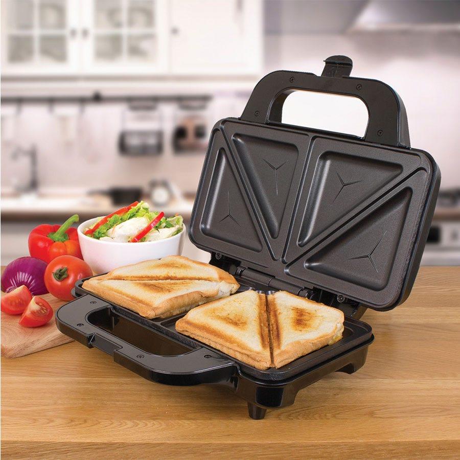 Quest 35630 900W 2-Slice Deep Fill Sandwich Toaster - Black