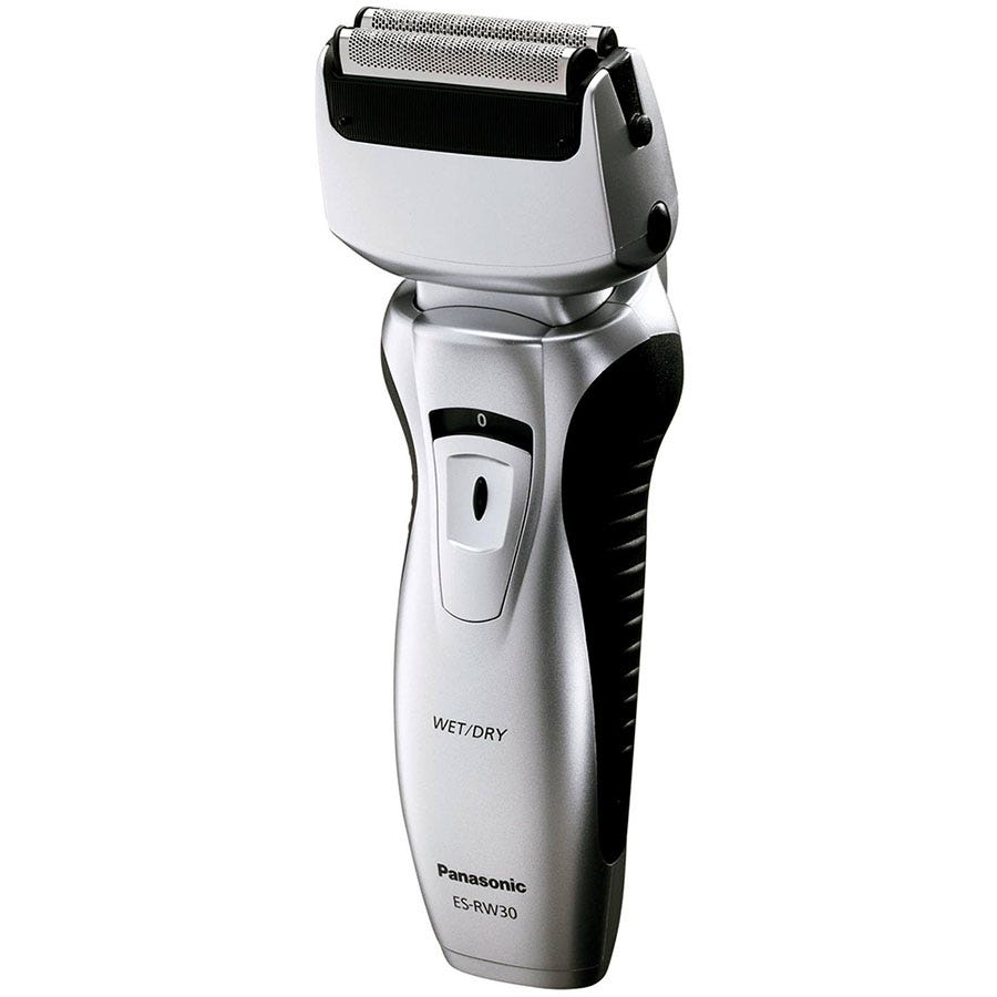 Panasonic ESRW30 Wet and Dry Rechargeable 2-Blade Electric Shaver - Silver