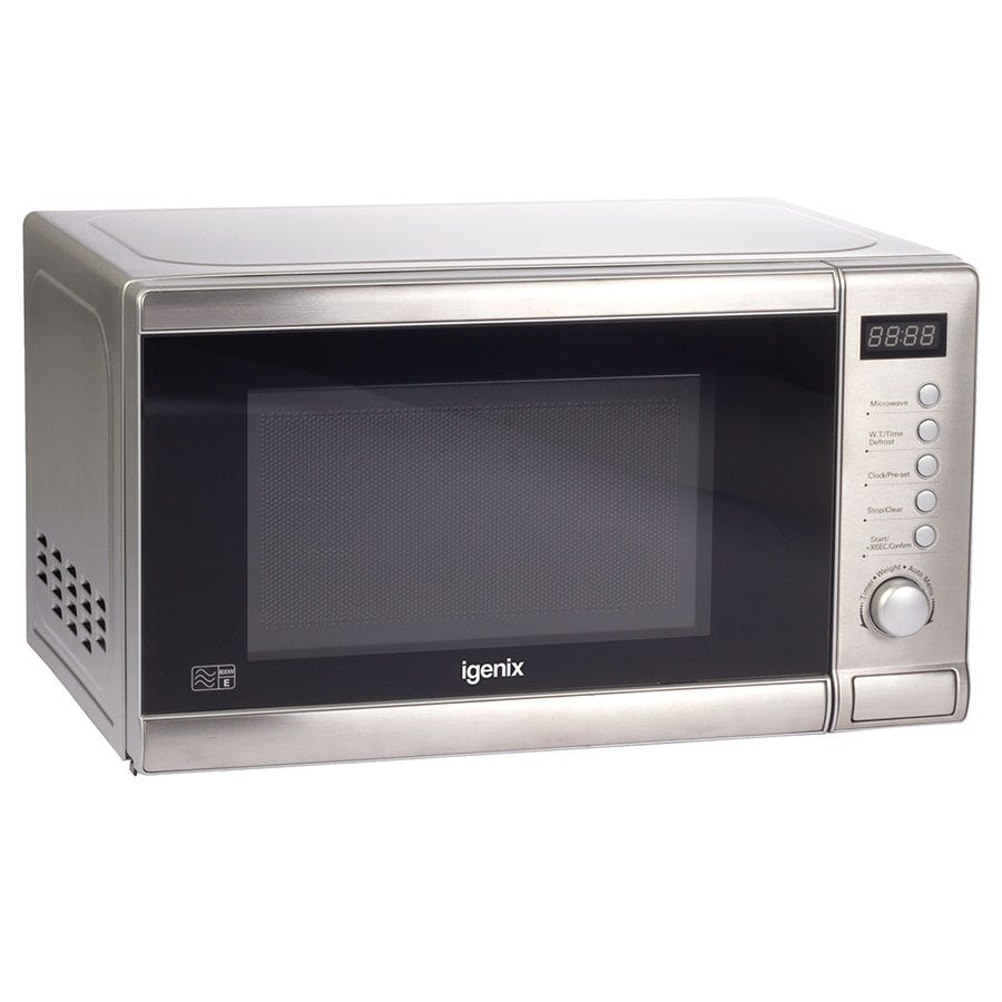 Igenix IG2060 700W 20L Digital Microwave - Stainless Steel