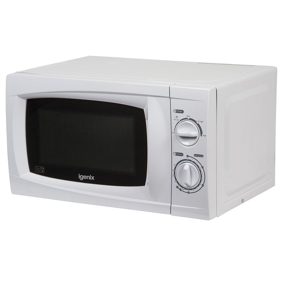 Igenix IG2070 20L White Manual Microwave