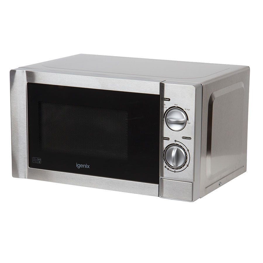 Igenix IG2860 20L Stainless Steel Manual Microwave