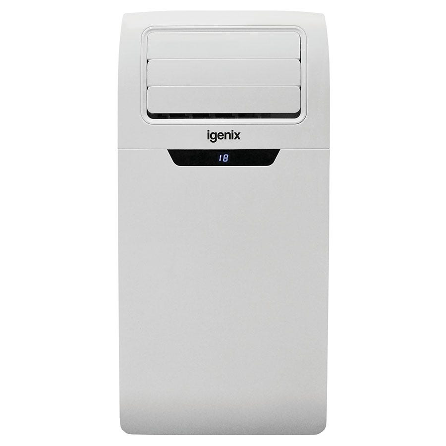 Igenix IG9904 7000BTU 4-in-1 Cooling, Heating, Fan and Dehumidifier Portable Air Conditioner - White