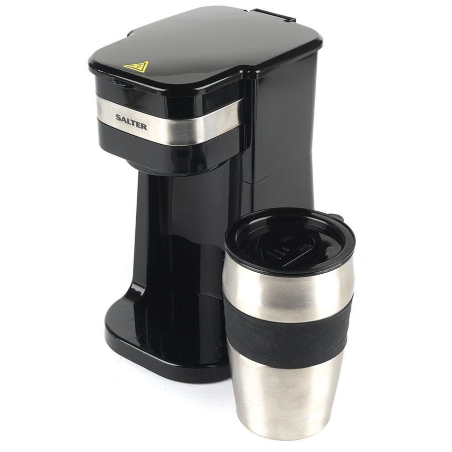Salter EK2408 Coffee Maker to Go Personal Filter Coffee Machine with Travel Mug