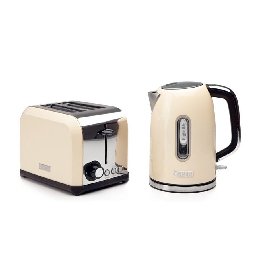 Haden 183484 Chiswick Twin Kettle and Toaster Set - Cream