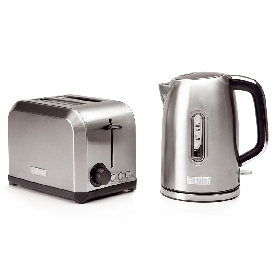 Haden 190055 Hampton Twin 1.7L Kettle and 2-Slice Toaster Set - Stainless Steel