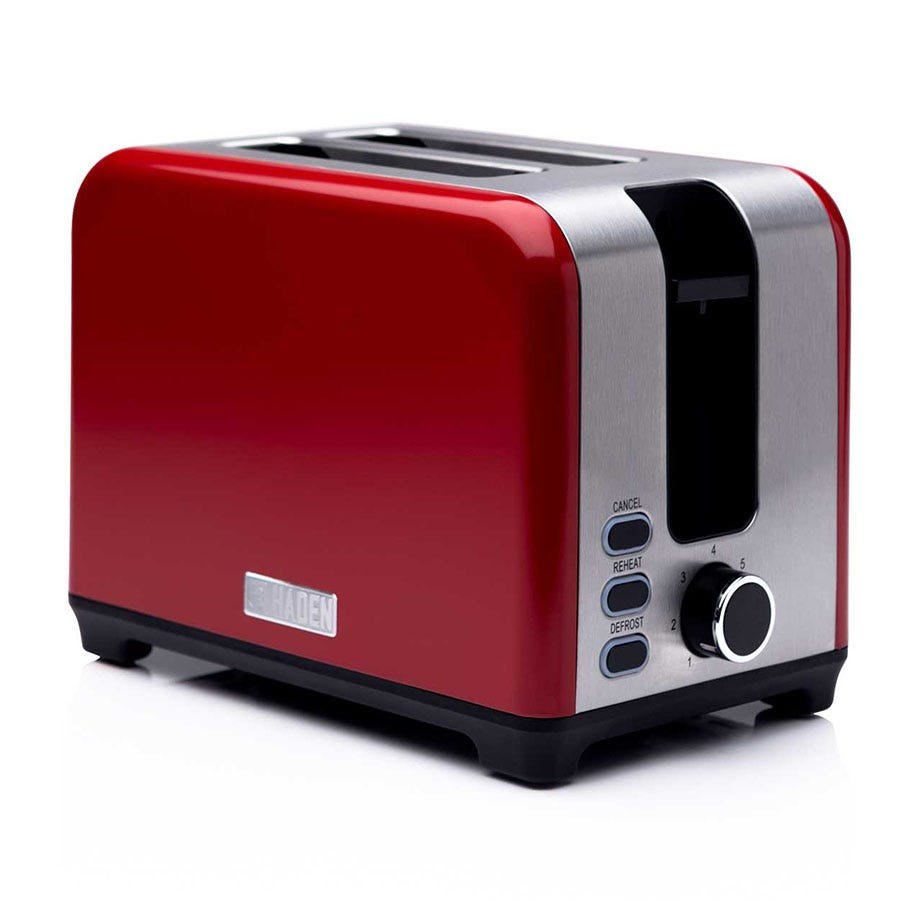 Haden 192790 Jersey 930W 2-Slice Toaster - Red