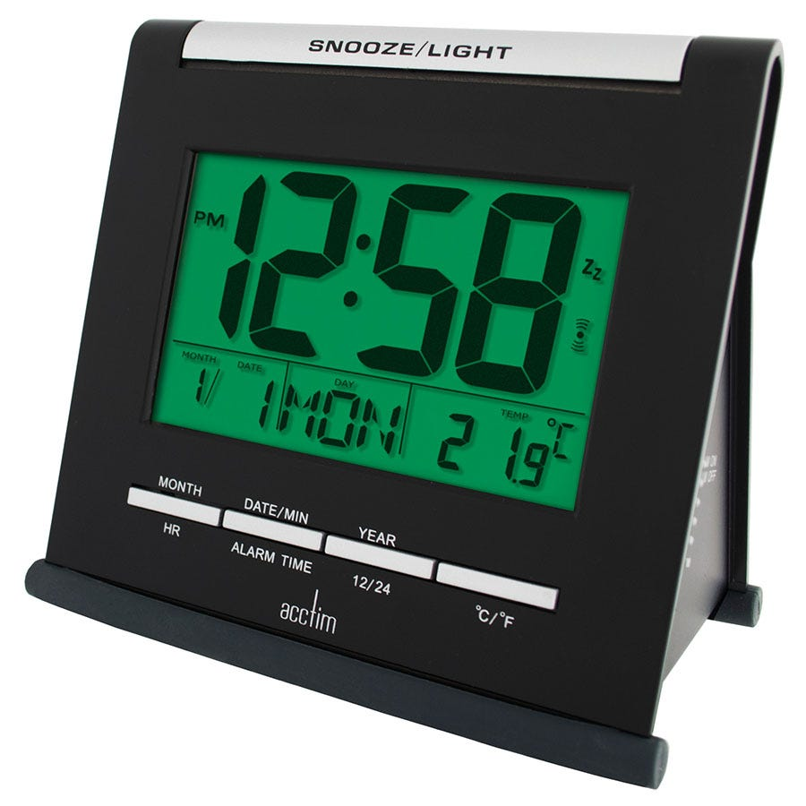 Acctim Apex Smartlite Multifunction LCD Alarm Clock